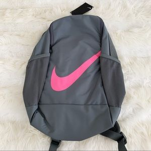 NIKE Backpack School Gym Bag NWT Grey Pink